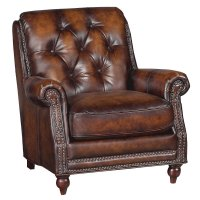 "Westbury Brown 34"" Brown Leather Chair"