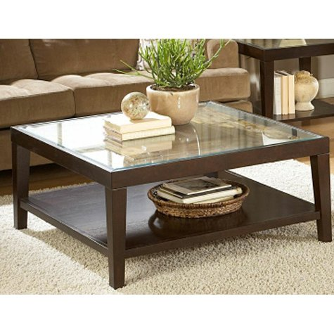 Merlot Square Glass Top Coffee Table Vincent Rc Willey Furniture Store