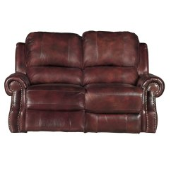 Burgundy Leather Sofa And Loveseat Leg Caps Madison 69 Quot Match Power Reclining