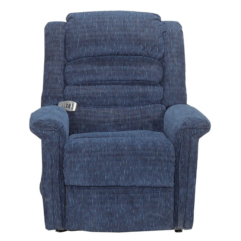 heated chair cover for recliner silver dining room chairs blue power reclining lift with heat and massage soother rc willey furniture store