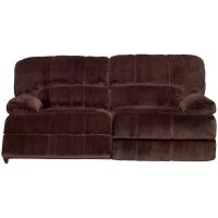 "Ayden 87"" Chocolate Microfiber Power Reclining Sofa"