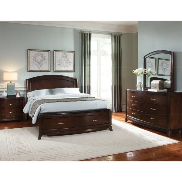 Brown 6 Piece King Bedroom Set - Avalon Rc Willey Furniture Store