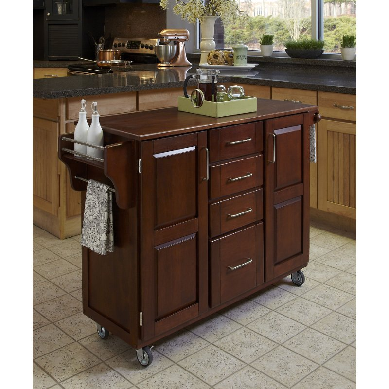 cherry kitchen cart white islands finish with oak top create a rc willey