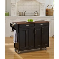 Cherry Kitchen Cart Modern Faucets Black Finish With Top Create A Rc