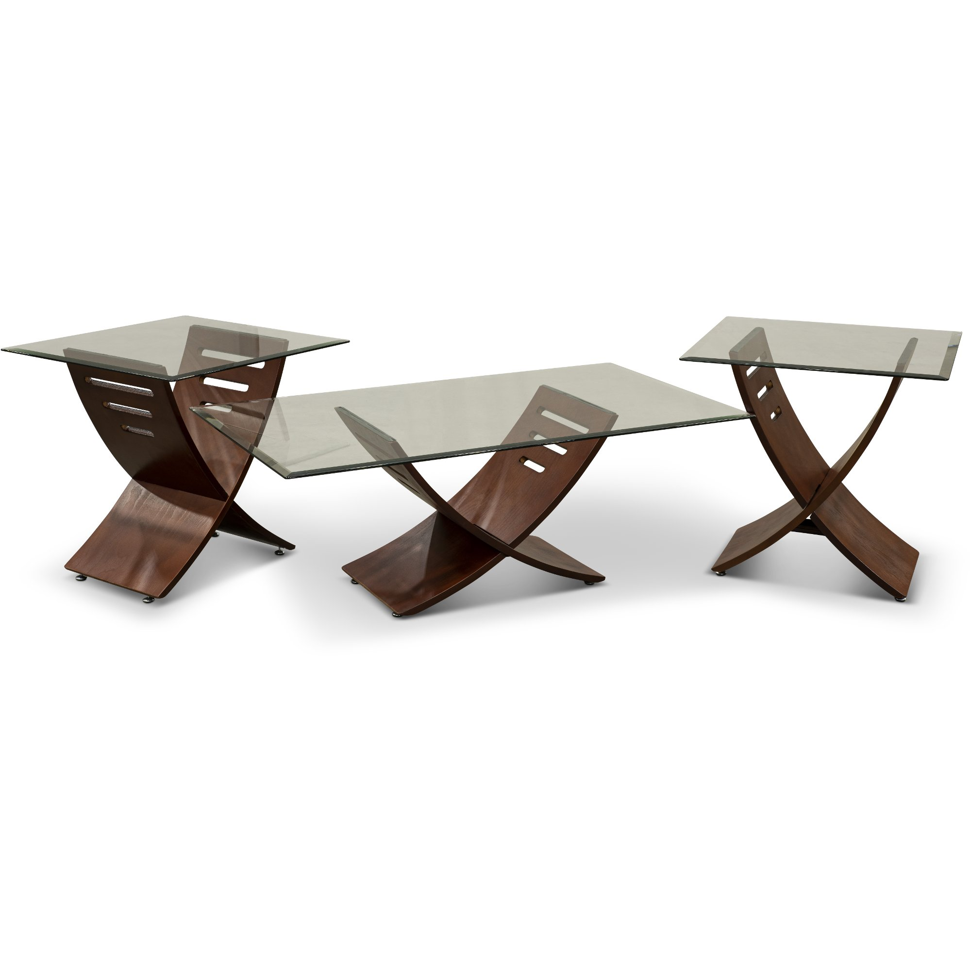 3 piece table set for living room light grey walls espresso brown and glass coffee rc willey furniture store