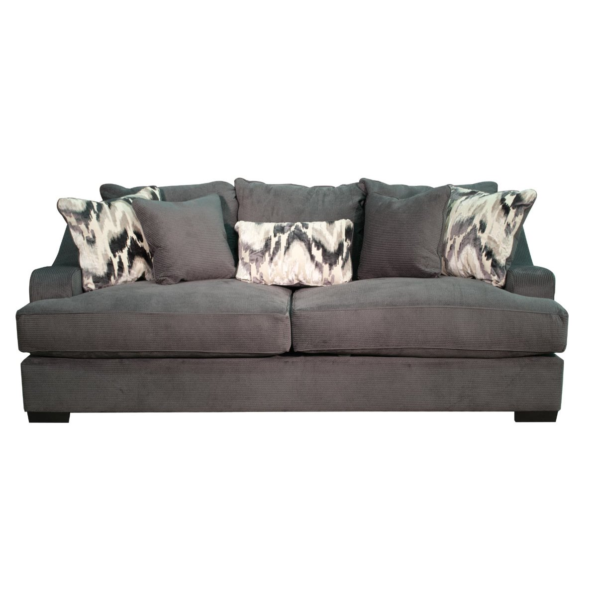 spartan sofa bobs furniture bed charcoal upholstered casual modern