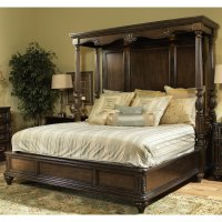 Chateau Marmont Pecan Brown King Canopy Bed