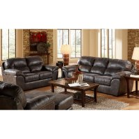 Casual Contemporary Steel Gray 2 Piece Living Room Set