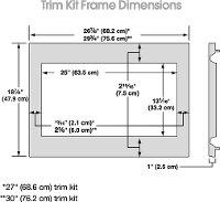 kitchenaid 30 inch microwave trim kit stainless steel