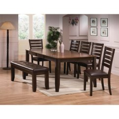 Kitchen Table With Bench And Chairs Lowes Knobs Chair Dining Sets Rc Willey Furniture Store Clearance Brown 5 Piece Set Elliott