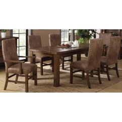 Upholstered Chairs For Dining Room Chair Covers At Wayfair Brown 5 Piece Set With Chambers Creek Rc Willey Furniture Store