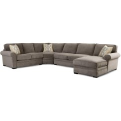 4 Piece Recliner Sectional Sofa Leather Corner Usa Orion Gray Upholstered