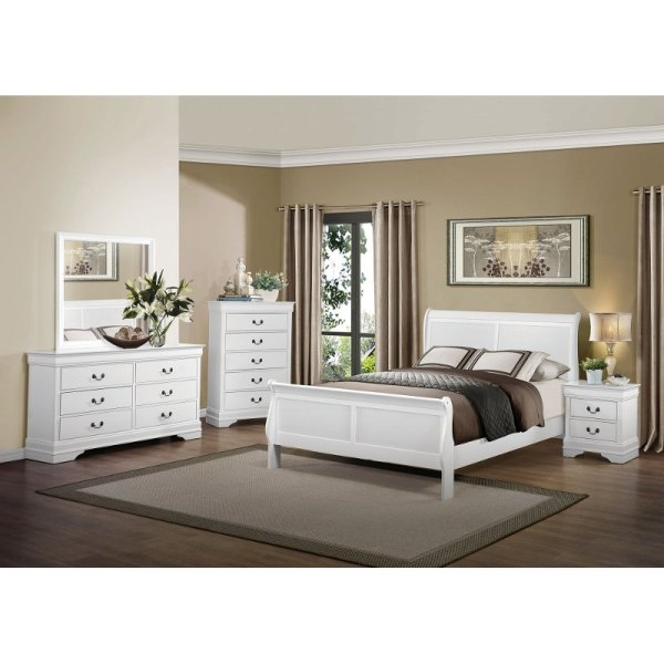 white king bedroom furniture sets Mayville White 6-Piece King Bedroom Set
