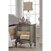 Kensington Antique Silver Nightstand