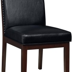 Black Dining Room Chair Target Wooden Chairs And Chocolate 5 Piece Set Couture Rc