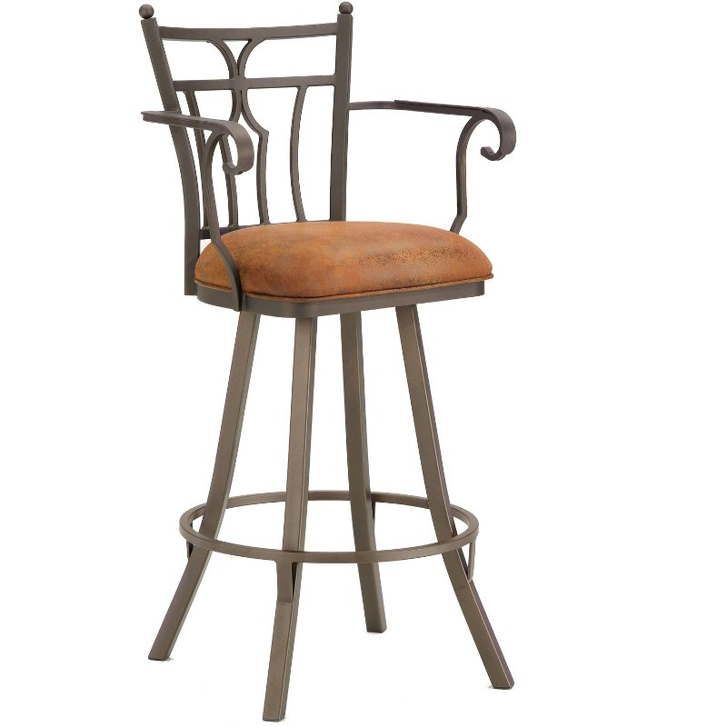 counter height arm chairs swing chair johannesburg randle 26 inch swivel stool with arms rc willey furniture store
