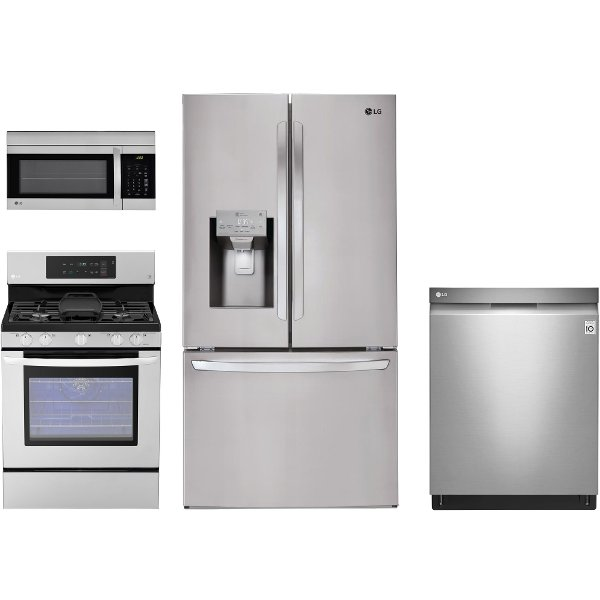 kitchen appliance packages stainless steel cheap small table rc willey furniture store 156497 lg ss 4pc gas 3dr 4 piece package