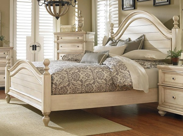 Antique White 6 Piece King Bedroom Set - Heritage Rc Willey Furniture Store