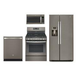 Kitchen Appliance Suite Professional Home Appliances Ge 4 Piece Package With Gas Range Edge To Cooktop Slate Rc Willey Furniture Store