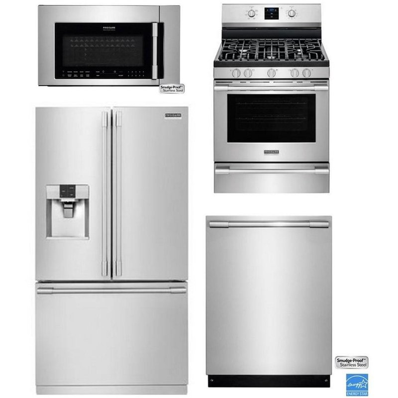 Frigidaire Professional Kitchen Appliance Package with Gas Range  Stainless Steel  RC Willey