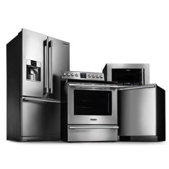 Frigidaire Kitchen Package Large White Island Appliance With Electric Range Smudge 4 Piece 6 1 Cu Ft Oven Stainless Steel 615396
