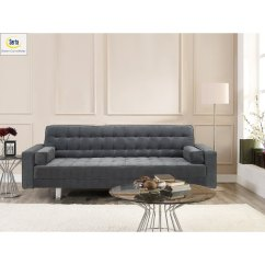 Daria Serta Gray Convertible Sofa Best Cushions Filling Roudolph