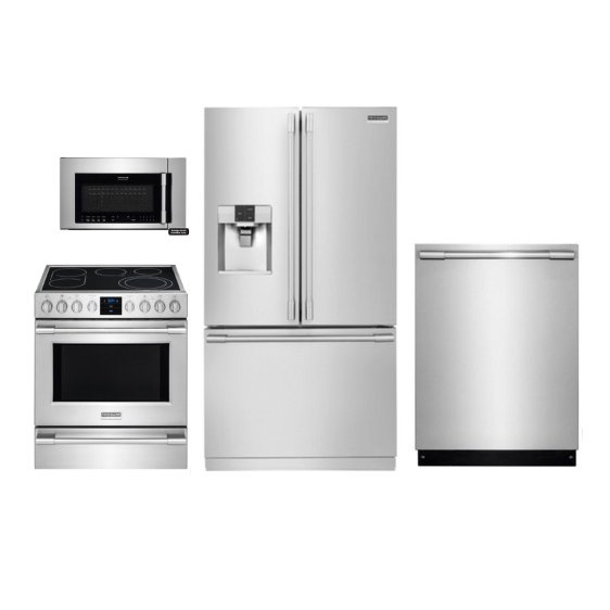 frigidaire kitchen package cabinets design professional appliance with 5 1 cu ft electric range stainless steel rc willey furniture store