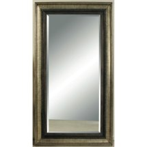 Antique Bronze And Silver Metallic Leaner Mirror Rc