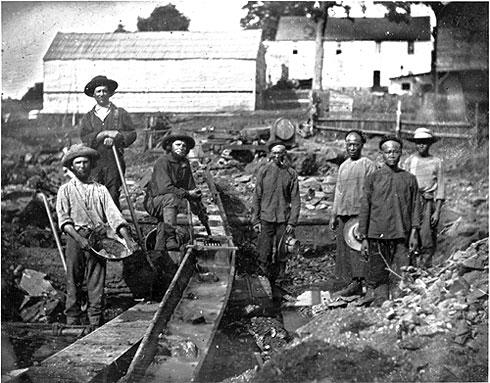 Chinese immigrants in California during the Gold Rush