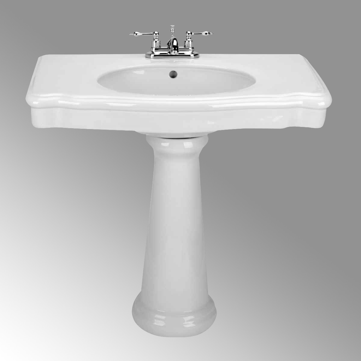 Pedestal Sink Bathroom Console White China Darbyshire