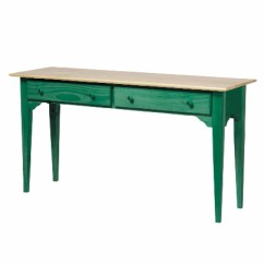 Pine Sofa Tables Plastic Covers Table Hunter Green Solid