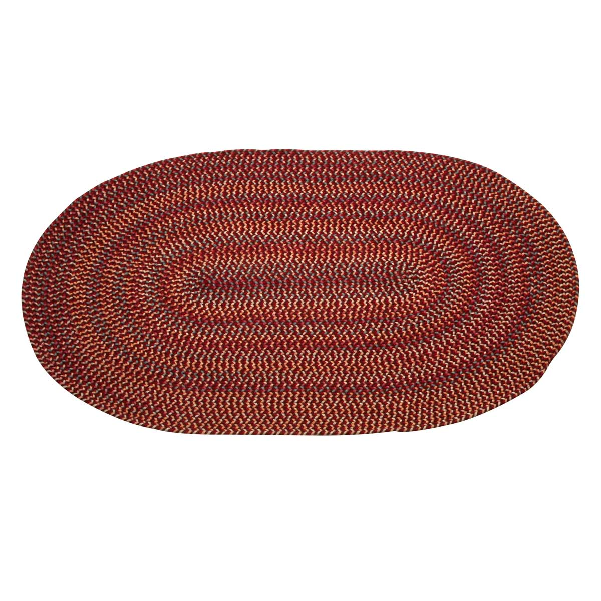 braided kitchen rugs refinishing countertops rug nylon red 4 39 x 6
