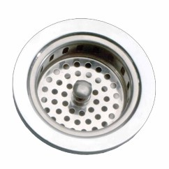 Kitchen Sink Basket Strainer Cabinet Trash Can Chrome Solid Brass 4 5 Quot