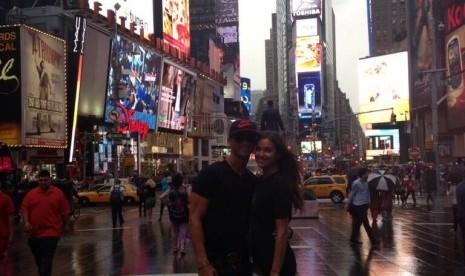 Cristiano Ronaldo menikmati liburan di New York, AS, bersama kekasihnya Irina Shayk