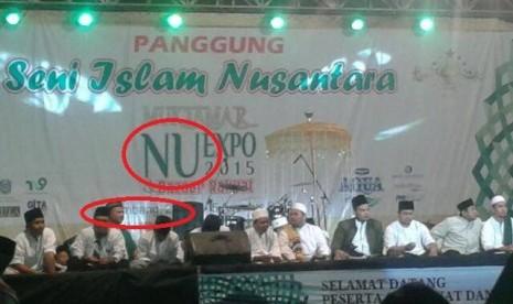 Panggung Seni Islam Nusantara yang menyajikan kegiatan pengajian sekaligus dangdut oplosan.