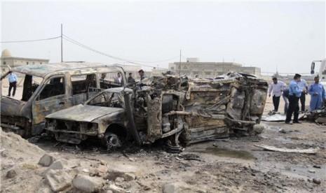 Serangan bom bunuh diri terus melanda Irak. (ilustrasi)