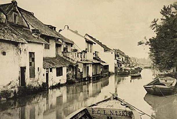 Kampung cina di Batavia tahun 1910.