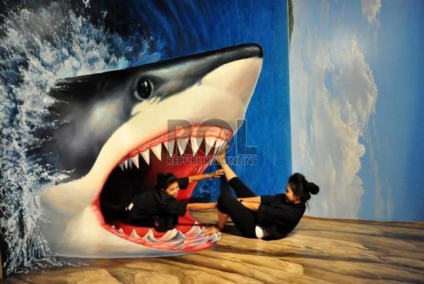 Pameran Lukisan Unik Tiga Dimensi Trick Art Japan