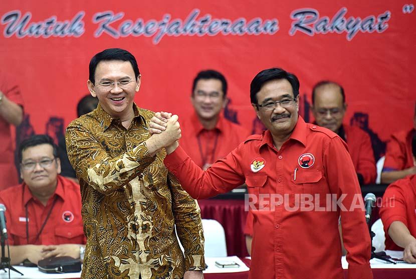 Basuki Tjahaja Purnama dan Djarot Syaiful Hidayat resmi diusung PDIP sebagai Gubernur dan Wakil Gubernur pada Pilkada 2017