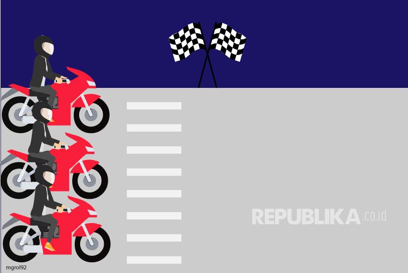 Ilustrasi Balap Motor Liar