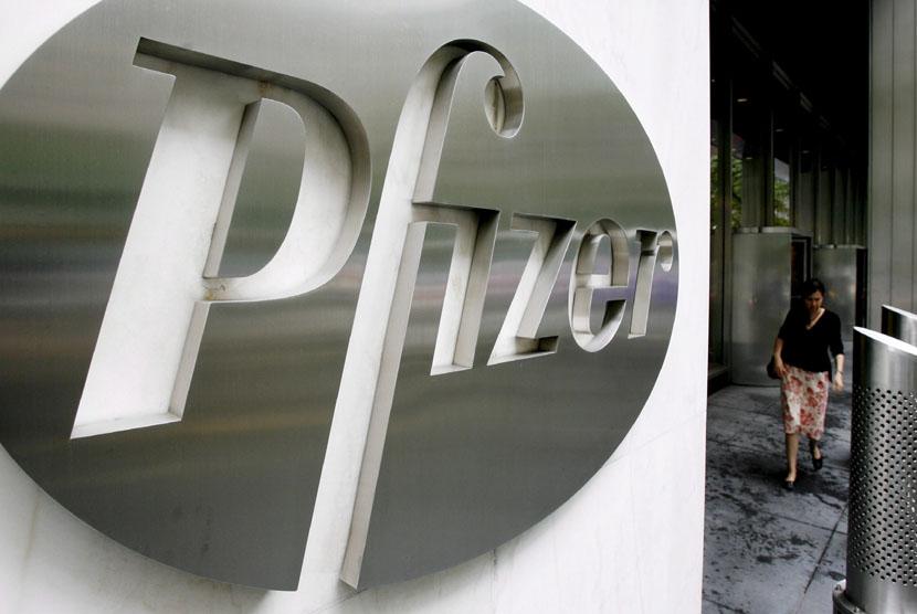 Kantor pusat Pfizer Inc. di New York, Amerika Serikat.