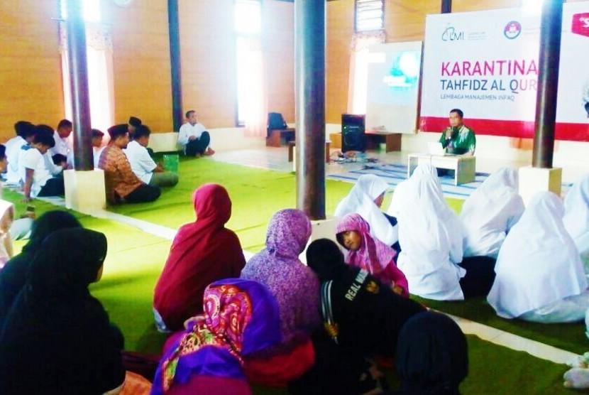 Karantina Tahfidz Al-Qur'an Lembaga Manajemen Infaq (LMI)