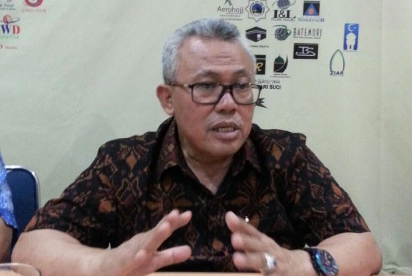 Ketua Umum Himpunan Penyelenggara Umrah dan Haji (Himpuh) H Baluki Ahmad