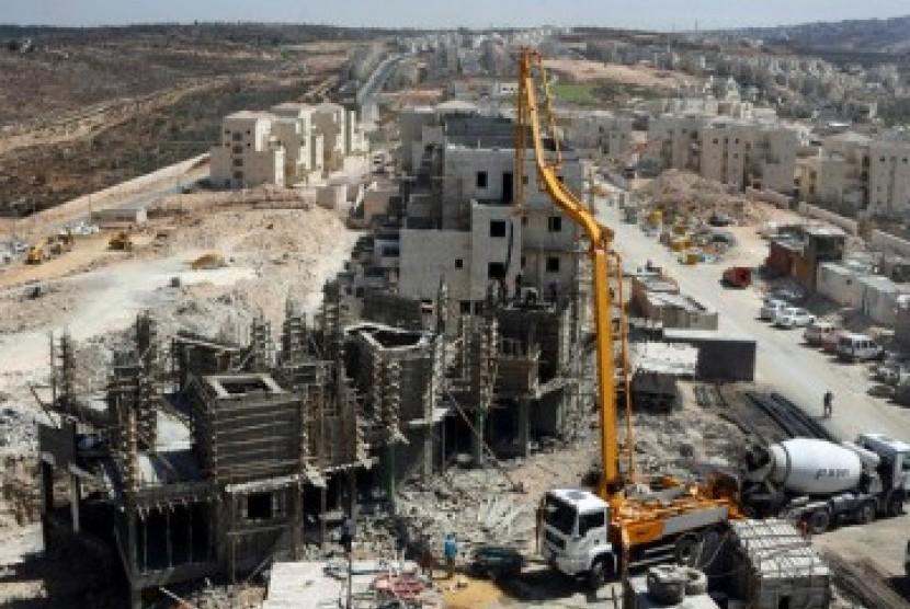 Pembangunan proyek pemukiman Yahudi di Israel