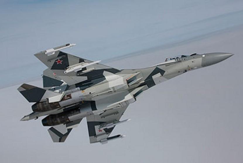 Pesawat Sukhoi SU-35.