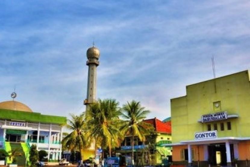 Salah satu sudut kampus Pondok Modern Gontor, Ponorogo, Jawa Timur.