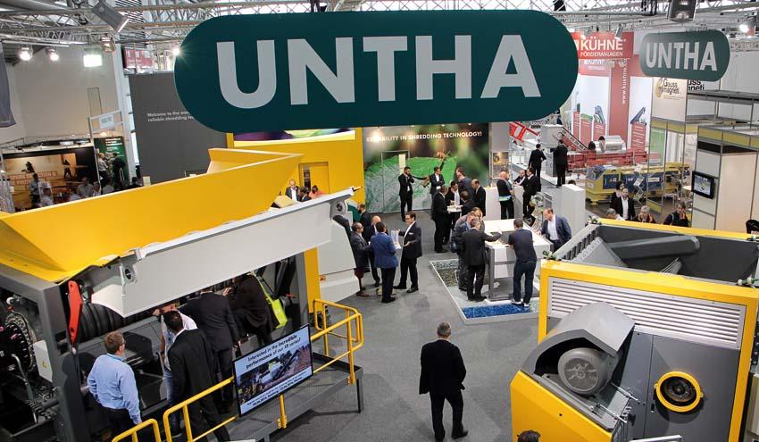 IFAT despierta un interés récord por las trituradoras de residuos de UNTHA