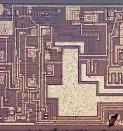 die photo of the 741 op amp [ 1200 x 772 Pixel ]
