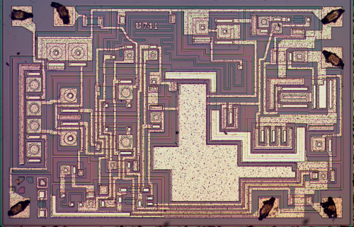 small resolution of die photo of the 741 op amp