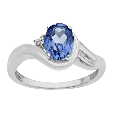 1 78 Ct Ceylon Sapphire Ring With Diamonds In Sterling